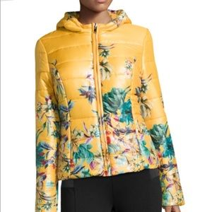 John+Jenn Floral Print Puffer Jacket